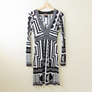 Custo Barcelona • Geometric A-Line Dress